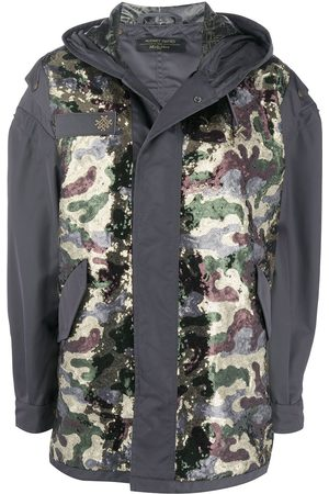 Mr & Mrs Italy X Audrey Tritto camouflage panel parka