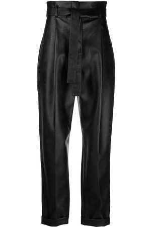 Serafini Waist-tied tapered trousers