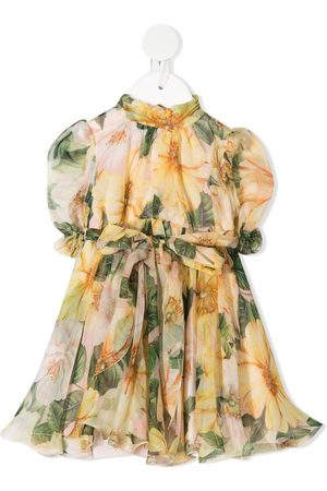 Dolce & Gabbana Baby Printed Dresses - Pleated floral silk dress