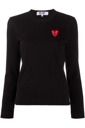 Comme des Garçons Embroidered-logo longsleeved top