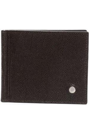 Orciani Men Wallets - Pebbled effect logo plaque wallet