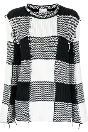 RED Valentino Check-print long-sleeve jumper