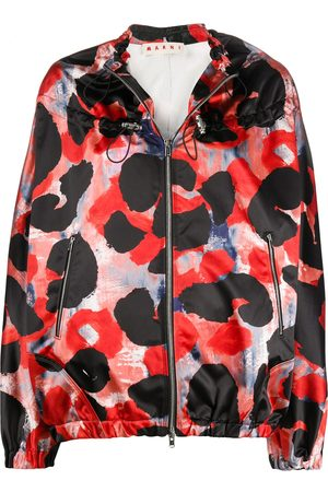 Marni Abstract print drawstring windbreaker