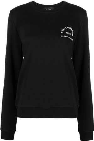 Karl Lagerfeld Slogan-print organic cotton sweatshirt