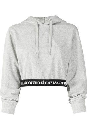 Alexander Wang Logo-print cropped hoodie