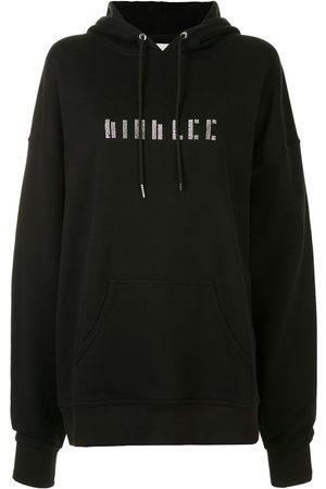 DION LEE Women Long Sleeve - Crystal-embellished long-sleeved hoodie