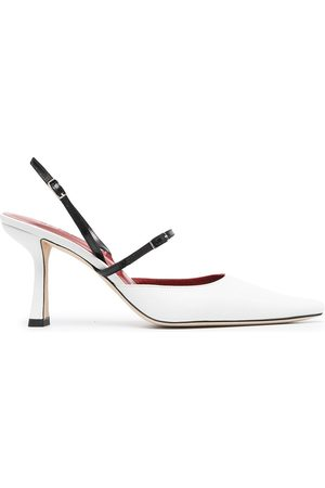 By Far Pointed toe leather pumps