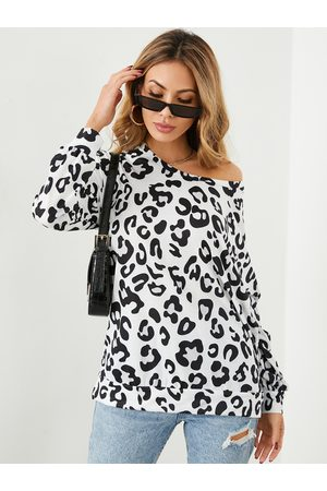 YOINS Leopard Round Neck Long Sleeves Tee