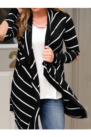 YOINS Striped Patch Long sleeves Cardigan