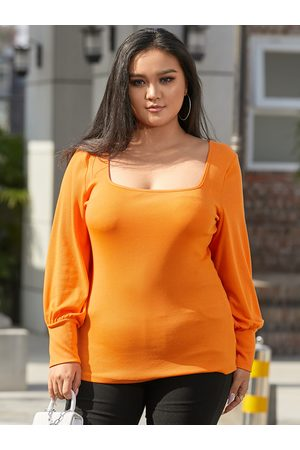 YOINS Plus Size Square Neck Ribbed Knit Long Sleeves Knitwear