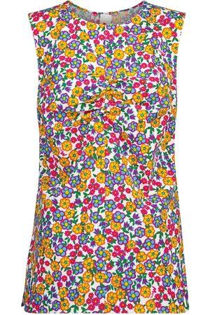 Marni Floral cotton poplin top
