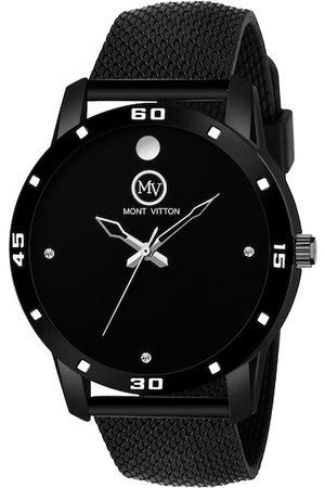 MONTVITTON Men Black Analogue Watch MV1220