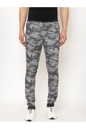 SAPPER Men Grey Slim Fit Camouflage Printed Joggers
