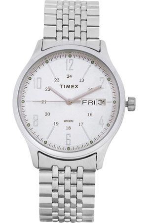 Timex Men Silver-Toned & White Analogue Watch TW0TG6500