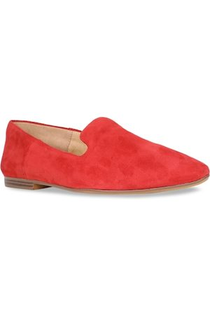 Naturalizer Women Red Leather Slip-On Sneakers