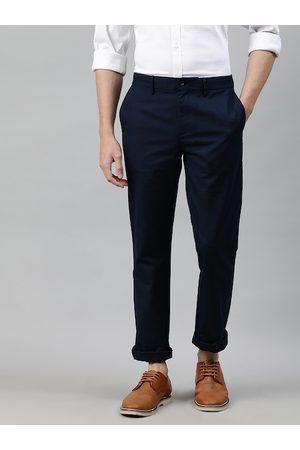 Tommy Hilfiger Men Navy Blue Regular Fit Solid Chinos
