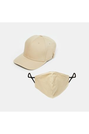 Free Authority Men Caps - Men Solid Cap with Face Mask