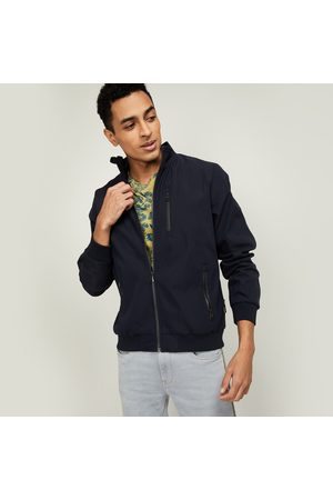 T-BASE Men Solid Open-Front Jacket
