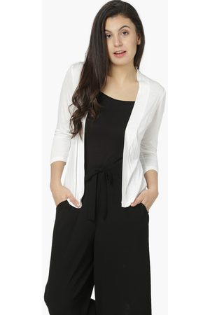 Code Solid Front-Open Full Sleeves Shrug
