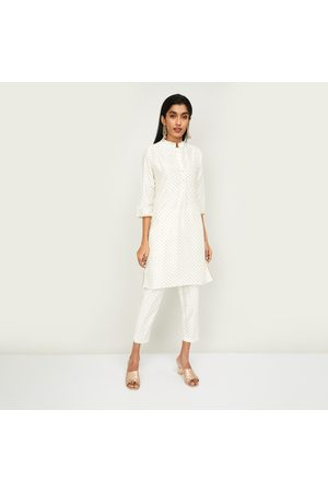 Span Women Printed Kurta with Elasticated Salwar