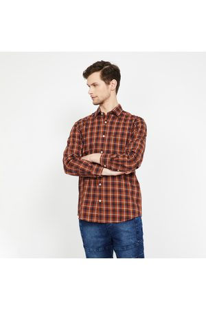 ColorPlus Checked Full Sleeves Slim Fit Shirt