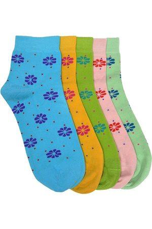Marc Women Set Of 5 Assorted Ankle-Length Socks
