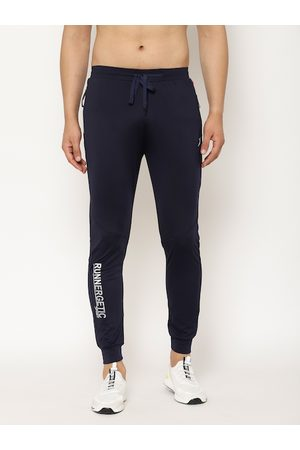 SAPPER Men Navy Blue Solid Slim Fit Track Pants
