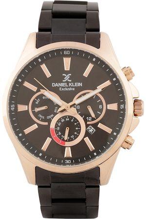 Daniel Klein Men Black & Rose Gold Analogue Watch