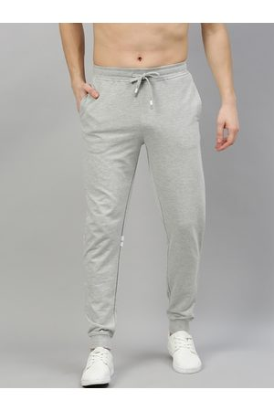 HARVARD Men Grey Solid Joggers