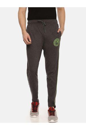 ACTIMAXX Men Charcoal Grey Solid Slim-Fit Track Pants