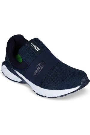 Liberty Men Navy Blue PU and Canvas Walking Shoes