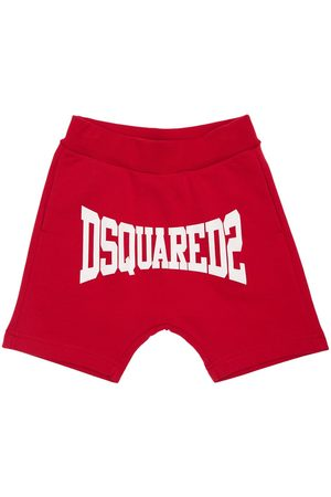 Dsquared2 Logo Print Cotton Sweat Shorts