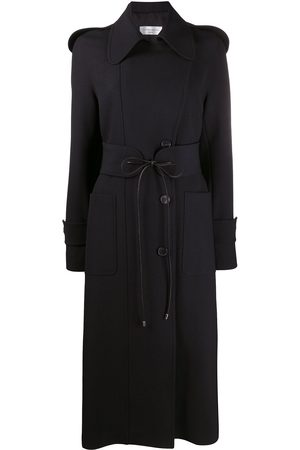Victoria Beckham Women Trench Coats - Tie-waist single breasted trench coat