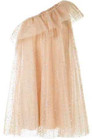 RED Valentino Women Party Dresses - One-shoulder ruffled dress
