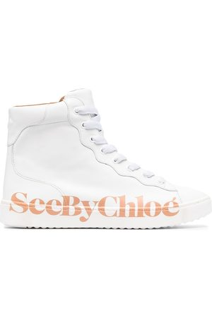 See by Chloé Side-logo high-top sneakers