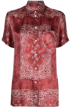 Golden Goose Women Short Sleeve - Bandana-print short-sleeve shirt