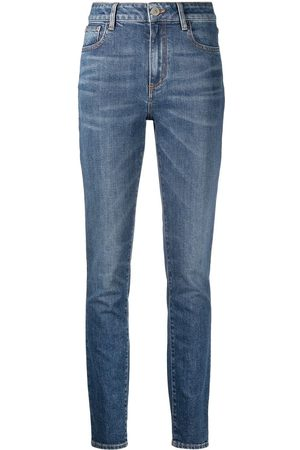 The Attico High-waist slim-fit jeans