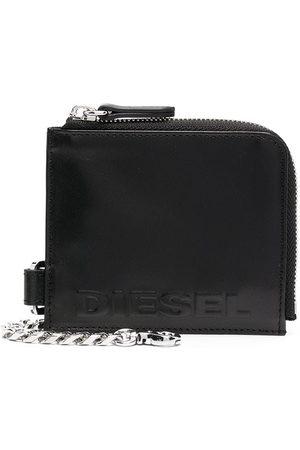 Diesel Embossed-logo zipped wallet