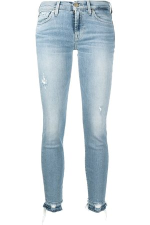 7 for all Mankind Skinny-fit cropped jeans