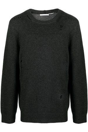 Helmut Lang Ripped-detailed knitted jumper