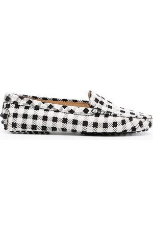 Tod's Gommino checked driving shoes