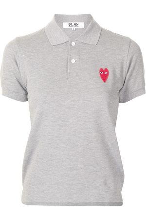 Comme des Garçons Women Polo Shirts - Embroidered-logo short-sleeved polo shirt
