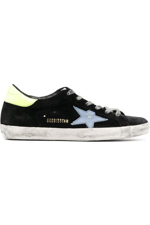 Golden Goose Worn-look star patch trainers