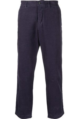 YMC Mid-rise textured cropped trousers