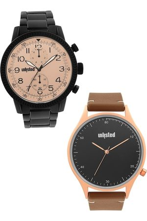 UNLISTED A KENNETH COLE PRODUCTION Men Pack Of 2 Multicoloured Analogue Watch UL51146003