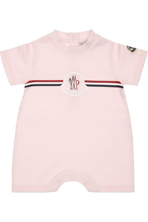 Moncler Girls Bodysuits & All-In-Ones - Cotton Jersey Romper W/ Logo