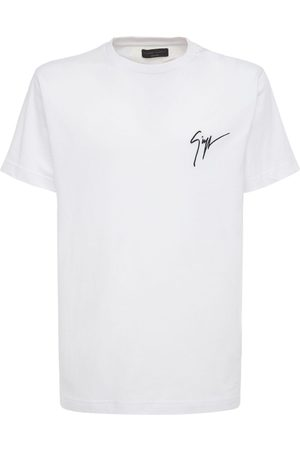 Giuseppe Zanotti Men T-shirts - Signature Embro Cotton Jersey T-shirt