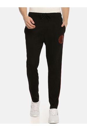 ACTIMAXX Men Black Solid Slim-Fit Track Pants