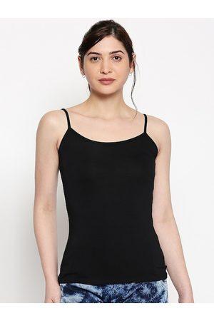 inocenCia Women Black Solid Camisole