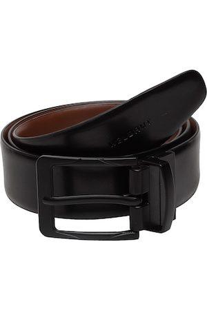 WELBAWT Men Black & Brown Solid Reversible Leather Belt
